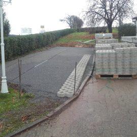 Erneuerung einer Parkfläche